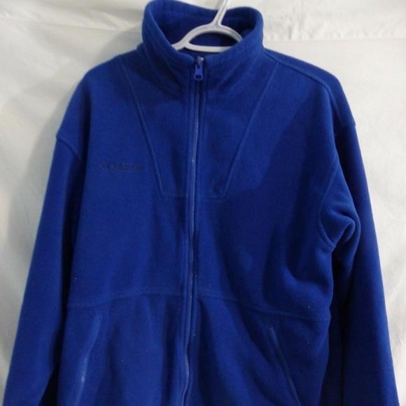 Columbia zip up fleece jacket, blue, size 18/20